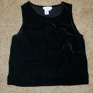 Coldwater Creek Black Velour tank Size medium